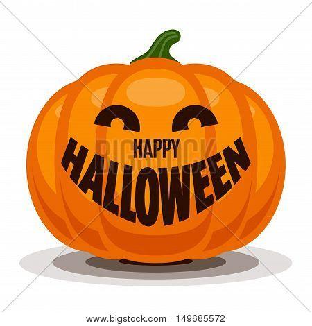 Happy Halloween with pumpkin. Eps8. RGB Global colors