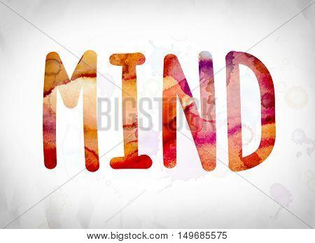 Mind Concept Watercolor Word Art