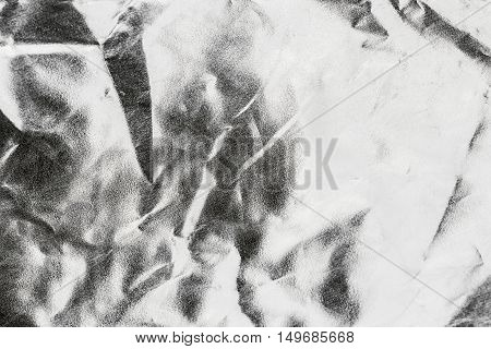 Gray  Background Or Texture And Shadow. Gray Fabric Crease