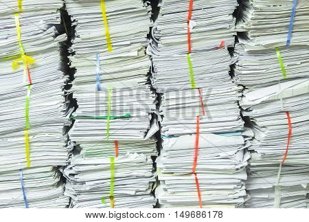 Pattern from old recycle business paperwork background
