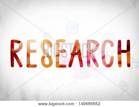 Research Concept Watercolor Word Art