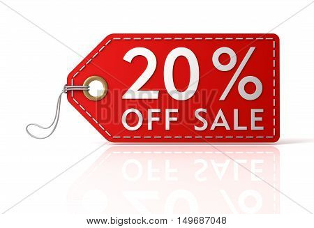 off sale shopping tag concept 3d illustration isolated on white background