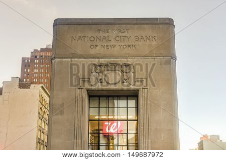 The First National City Bank Of New York