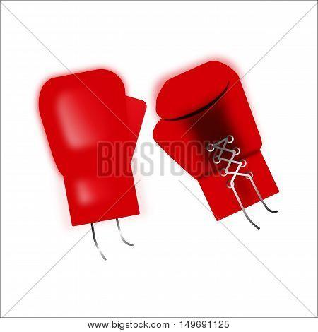 boxing design red boxing gloves. illustration vector.