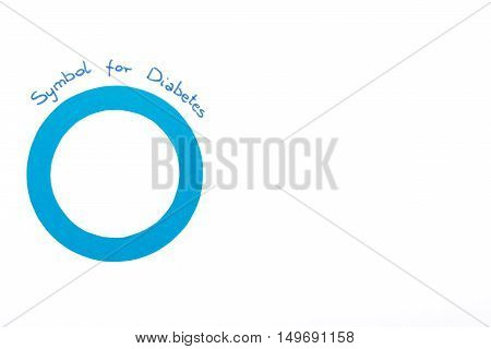 Symbol Of World Diabetes Day On White Background, Copy Space For Text