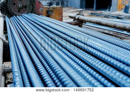 Reinforcement yard for building materials in construction sites.