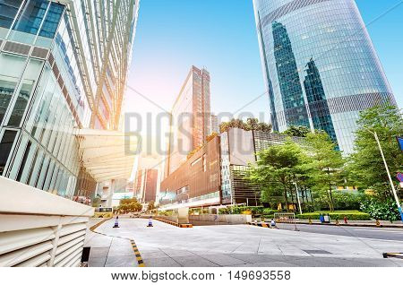 Big city skyscrapers, Pearl River New City, Guangzhou, China