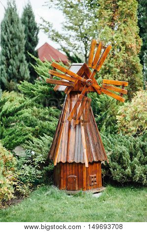 Decorative Wooden Windmill