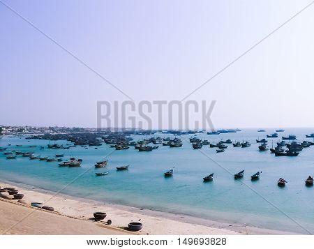 Fishing village in Mui Ne Vietnam Southeast Asia