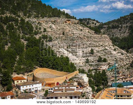 Scenic Cityscape At Alcala Del Jucar, Castilla La Mancha, Spain