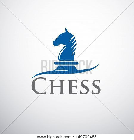 Vector sign horse of chess, isolated on white