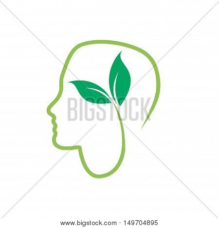 Vector sign vegan person vegetarian, isolated on white