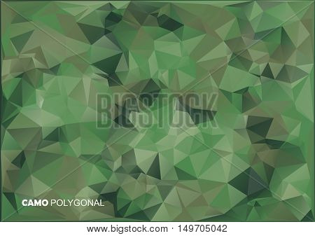 Army Military. Camouflage Background. Made Of Geometric Triangles Shapes.  Vector Illustration. Poly