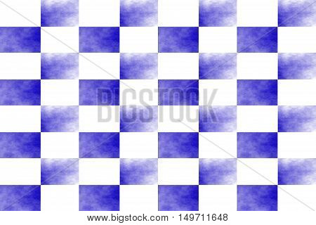 Illustration of an abstract dark blue and white chessboard