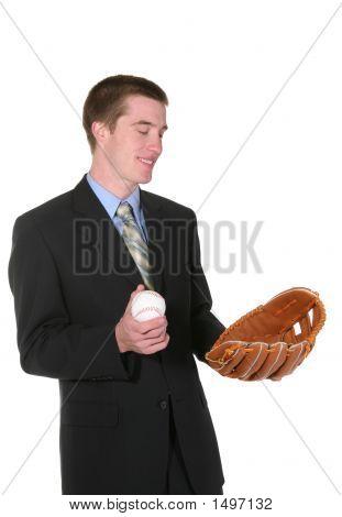 Baseball Business Man