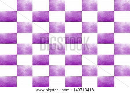 Illustration of an abstract purple and white chessboard
