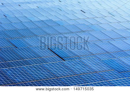 Wild Shot Many outdoor solar cell panel