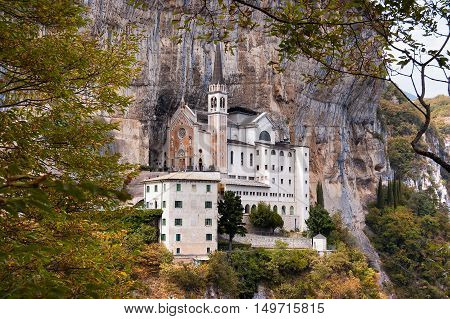 Madonna della Corona the Sanctuary of Our Lady of the crown. Spiazzi Verona Veneto Italy