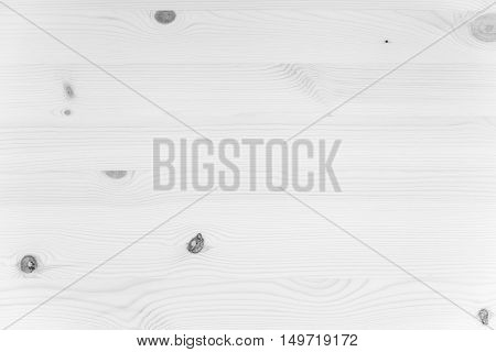 New White Wooden Plank Panel Made Of Pine Tree