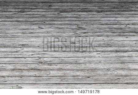 Old Gray Wooden Floor. Background Photo