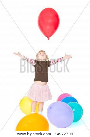 The Girl Catches Balloon