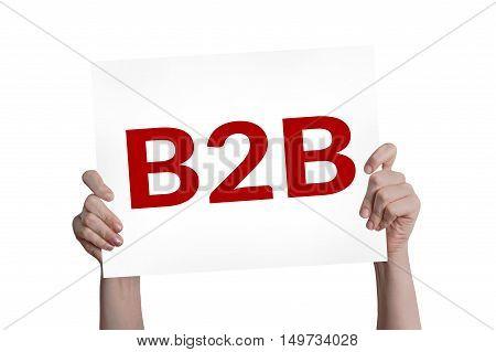 B2B (marketing) card isolated on white background