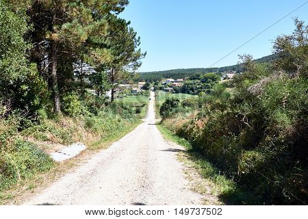 Images of Camino and surroundings. The epilogue between Santiago and Finisterre (pilgrimage to Santiago de Compostela). Spain