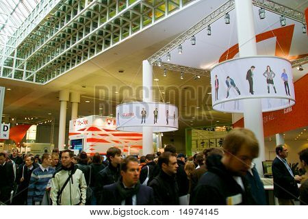 Hannover, Germany - March 5: Stand Of Avira And Mcafee On March 5, 2011 In Cebit Computer Expo, Hann