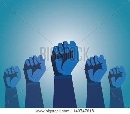 Revolution Hand Inside Background. Politics, Fist,creative Vector Protest Poster Concept.