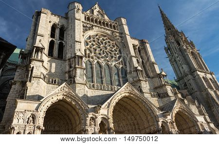 The Our Lady of Chartres cathedral is one of the most visited tourist destination in France.It had included in the UNESCO World Heritage List.