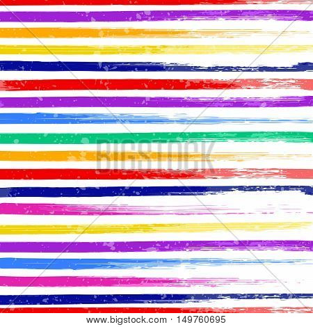 Abstract colorful lines pattern on white background vector illustration. Abstract brush stroke background