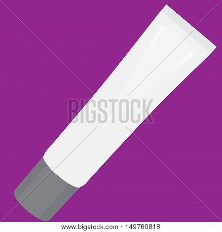 toothpaste tube white hygiene isolated vector illustration