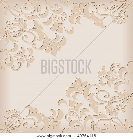 Decorative background with vignettes for card and invitations