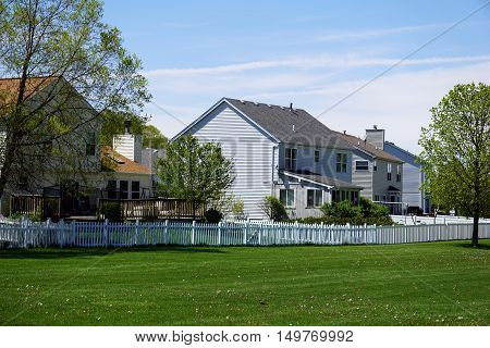 Tract homes in the Wesmere Country Club subdivision of Joliet, Illinois.
