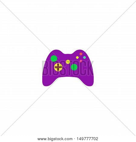 Gamepad Icon Vector. Flat simple color pictogram