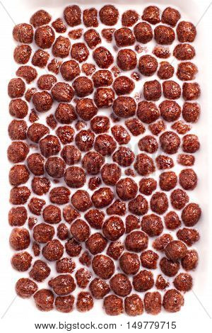 Chocolate Cereals With Fresh Milk