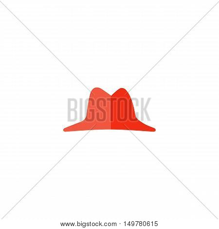Hat Icon Vector. Flat simple color pictogram