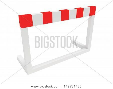 Hurdle 3d illustration on a white background