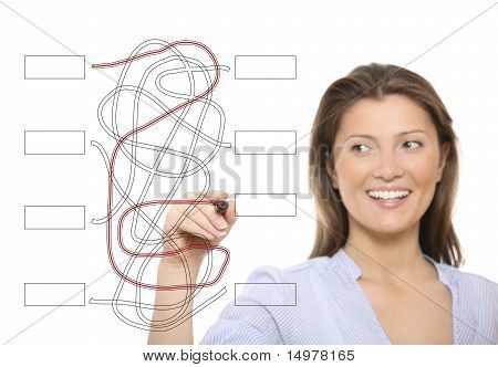 Nice Woman Solving A Jigsaw