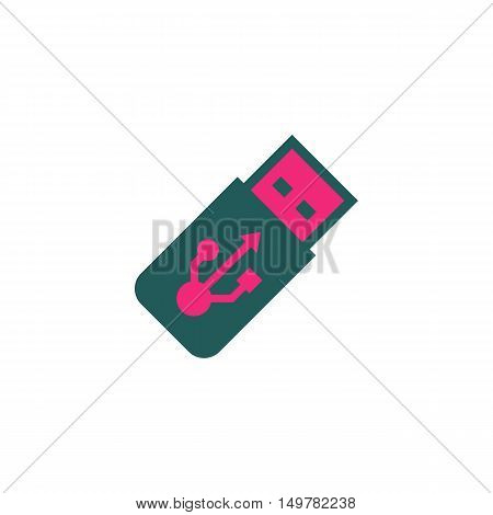 Usb Icon Vector. Flat simple color pictogram