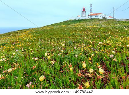 Lighthouse On Cape Roca, Portugal.