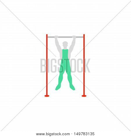 Pullups Icon Vector. Flat simple color pictogram