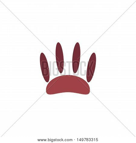 Paw Icon Vector. Flat simple color pictogram