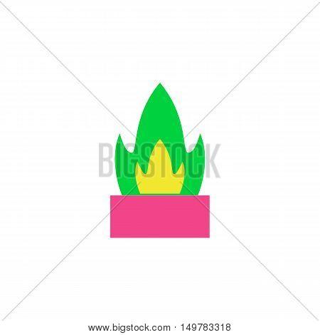 Flowerpot Icon Vector. Flat simple color pictogram