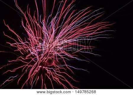 firework, fireworks, firework closeup, red and blue fireworks, abstract red and blue