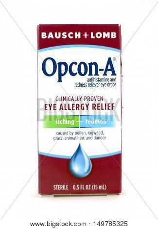 Opcon-a Eyedrops By Bausch + Lomb In Box