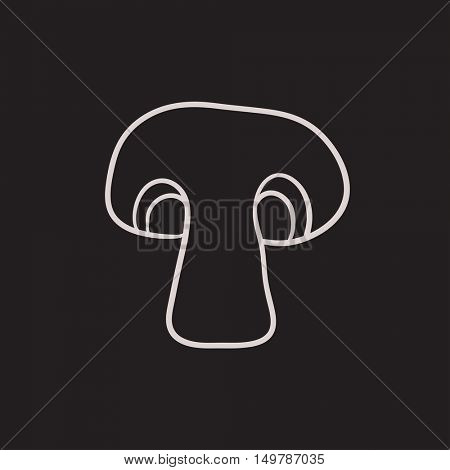 Mushroom vector sketch icon isolated on background. Hand drawn Mushroom icon. Mushroom sketch icon for infographic, website or app.