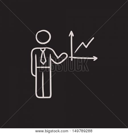Business report vector sketch icon isolated on background. Hand drawn Business report icon. Business report sketch icon for infographic, website or app.