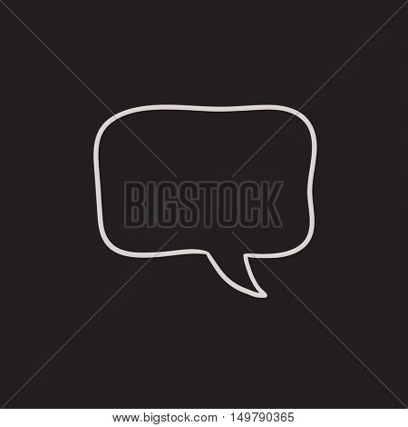 Empty speech square vector sketch icon isolated on background. Hand drawn Empty speech square icon. Empty speech square sketch icon for infographic, website or app.
