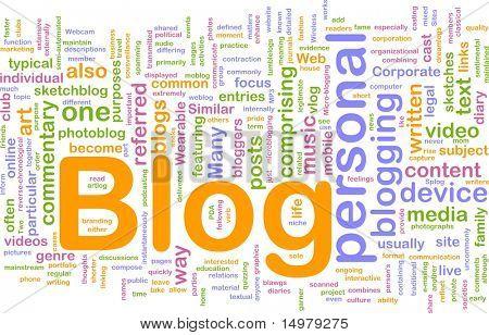 Background concept illustration of internet web blog
